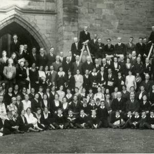 Three Choirs Festival query - Choirs Posed Outside Cathedral, Hereford, 1930