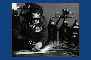 British Oxygen Company, Deer Park Road: Cutting and welding in progress
