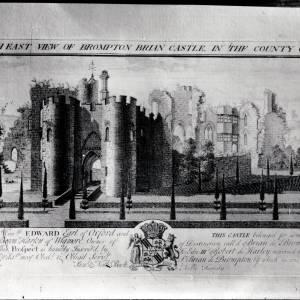 Brampton Bryan Castle,print
