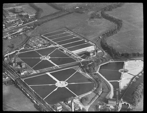 Aerial view of Lee Bridge works