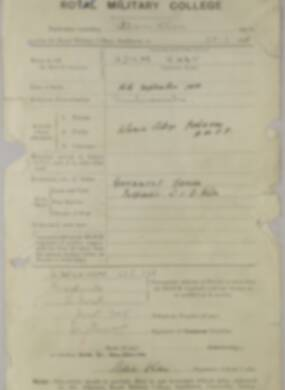 RMC Form 18A Personal Detail Sheets Jan & Aug 1931 Intake - page 2