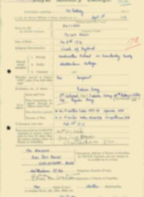 RMC Form 18A Personal Detail Sheets Feb & Sept 1933 Intake - page 268