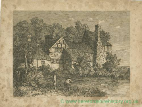 River, Bodenham, Herefordshire, print, 1815