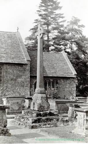 Brampton Abbotts cross, 1929