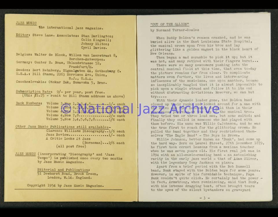 Jazz Music Vol 6 No 1 1955 0001 - National Jazz Archive