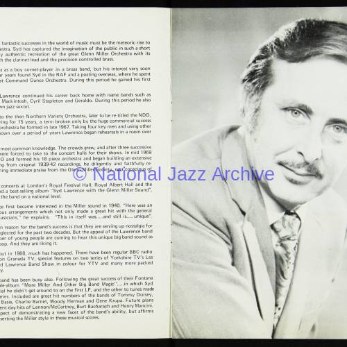 The Syd Lawrence Orchestra, Music in the Glenn Miller Mood, Fairfield Hall, Croydon - 1970 003