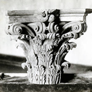 Wood carving, ornament capital