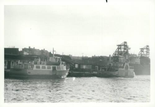 'Freda Cunningham' and 'Shieldsman' Ferries at South Shields Ferry Landing