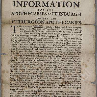 Incorporation of Surgeons and Barbers of Edinburgh, 1505-