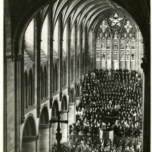 Three Choirs Festival, Hereford - View of Cathedral Interior, 1936