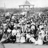 The Mayor and Mayoress of Bootle (Alderman & Mrs P Ashcroft) and guests at the Mayoral Garden Party, Derby Park, Bootle,10th July, 1901