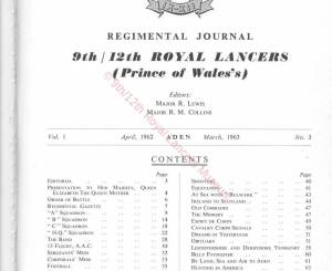 9th-12th Lancers, 1962