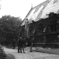 Bomb Damage to Harton Cemetery Chapel