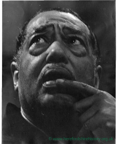 244 - Duke Ellington at rehearsals in Coventry Cathedral