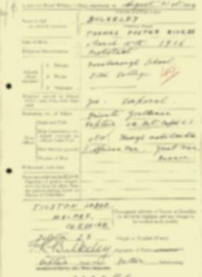 RMC Form 18A Personal Detail Sheets Aug 1934 Intake - page 25