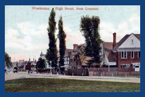 High Street, Wimbledon Village: View from the Common