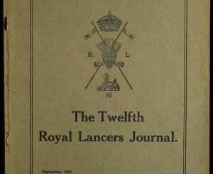 12th Lancers, 1912 September