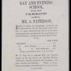 Mr A Patterson, Day and Evening School