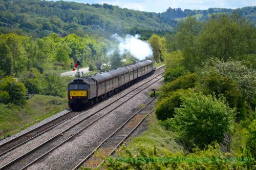 AM04 Flying Scotsman from A44 A49 bridge, Leominster, 19th May 2017.jpg
