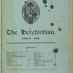 The Herefordian No 79_July 1915