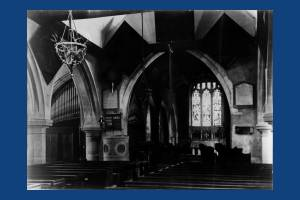 Interior of St. Mary's Church, looking east, Merton Park