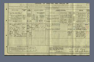 1911 Census for 3 Stanley Road, Morden