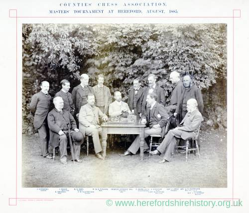 Counties Chess Association, Masters Tournament, Hereford 1885