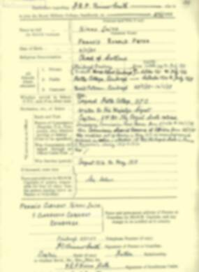 RMC Form 18A Personal Detail Sheets Jan-Sept 1919 - page 1
