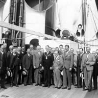 "Bootle Town Clerks Society aboard S.S ""Scythia"", 1934"