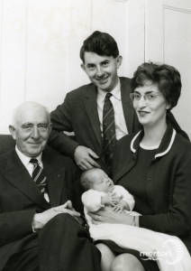 Dr I Evans & Drs Alan and Judith Prowse with their daughter Margaret