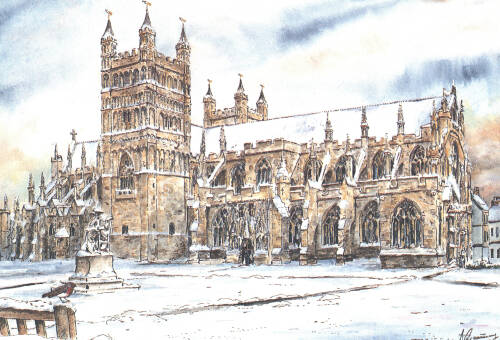 Exeter Cathedral greetings card, c2000, Exeter