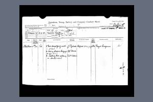 Service Conduct Papers from Service Records