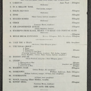Duke Ellington Orchestra Concert – Massey Hall, Toronto  December 27th   1945 (Incomplete)