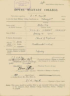 RMC Form 18A Personal Detail Sheets Feb & Aug 1923 Intake - page 6