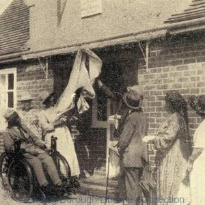 The opening of Sutherlands Cottage, 27 Northumberland Avenue, Reading, in 1921.