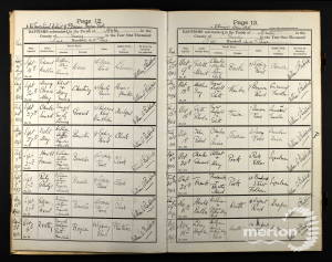 Baptism Record - Harold Brewster