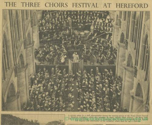Three Choirs Festival, Hereford 1949