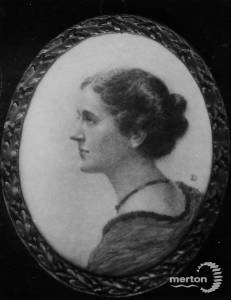 Mrs T.P. Browning: Miniature by Dorothy Kenrick