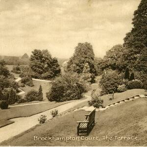 POP005 The Terrace, Brockhampton Court, photo by Jakeman and Carver, Hereford, c1913.jpg