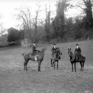 G36-220-12 Three ladies posing on horseback in field [same as G36-220-10].jpg