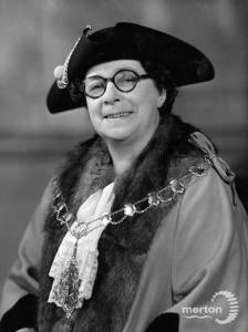 Mrs E. Watson, Alderman & Mayor 1946 - 47