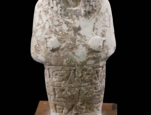 Limestone Shabti figure, 19th Dynasty, 1200BC