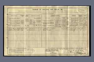 1911 Census for 4 Gothic Villas, Mitcham