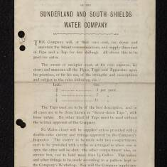 Regulations of the Sunderland and South Shields Water Company