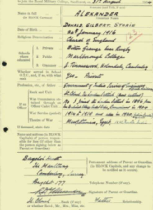 RMC Form 18A Personal Detail Sheets Aug 1934 Intake - page 3