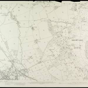 OS Sheet XXI.6 Bromyard Downs 1904