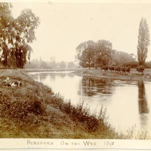 On the Wye at Hereford, 1891