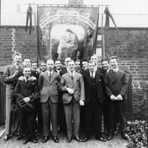 Methodist Chapel, High Green, group in 1931.