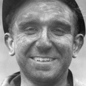 Portrait of smiling miner; close up