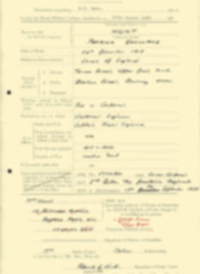 RMC Form 18A Personal Detail Sheets Aug 1935 Intake - page 112